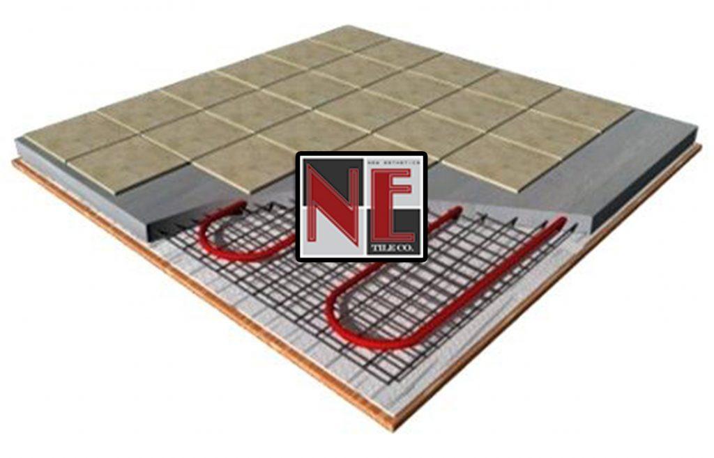 Radiant Heated Flooring Installation N E Tile Company